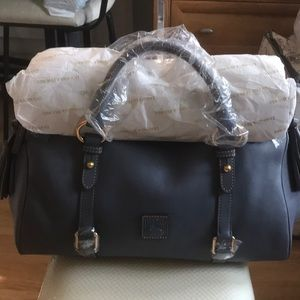 Steel Blue NWT Dooney Florentine Satchel Medium